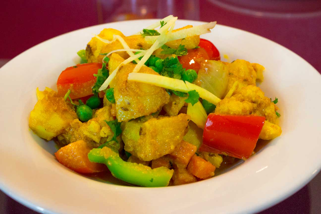 fresh and delicious mixed vegetable dish