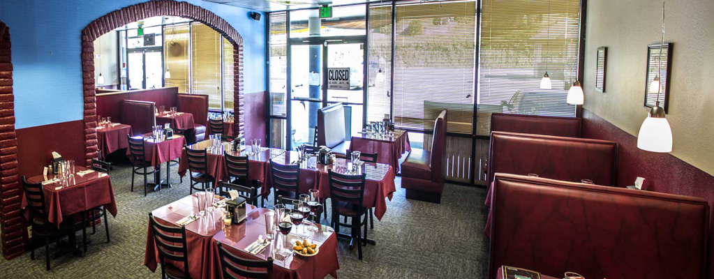 Interior photo of Hilltop Indian Restaurant in Browns Point, WA.